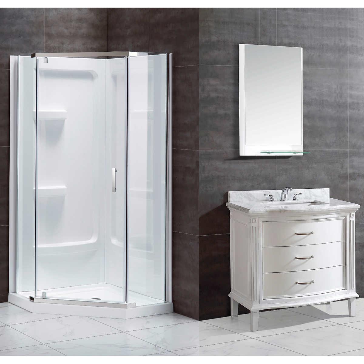 Ove Decors Shower Doors Ove Decors Christelle 36 Corner Shower Kit