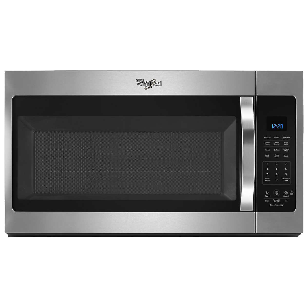 Whirlpool white ice convection microwave - Whirlpool 1 9cuft Stainless Steel Over The Range Steam Microwave With Sensor Cooking