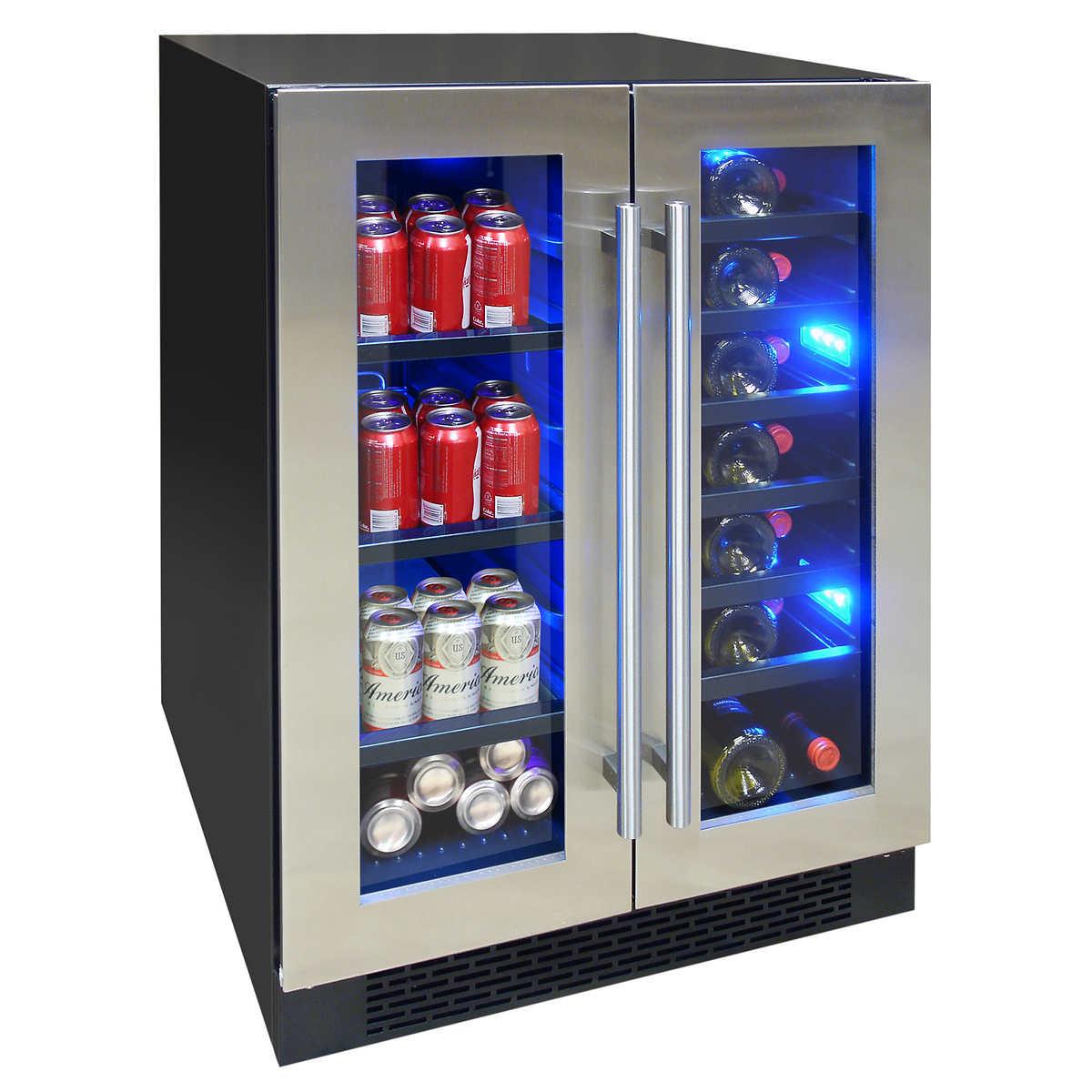 wine cellars  coolers  costco - element by vinotemp dualzone wine and beverage center elbwc