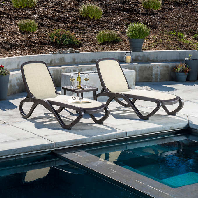 Omega 3-piece Commercial Chaise Lounge Set