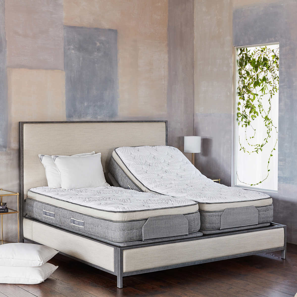 brentwood home cupertino firm split king with adjustable base and bed set