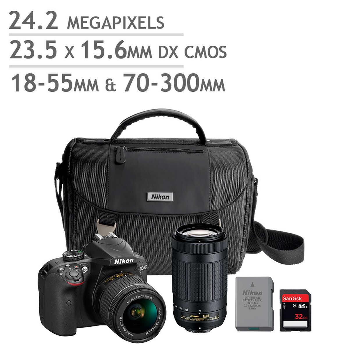 Camera Dslr Cameras Ebay digital slr cameras nikon d3400 dslr camera 2 lens bundle