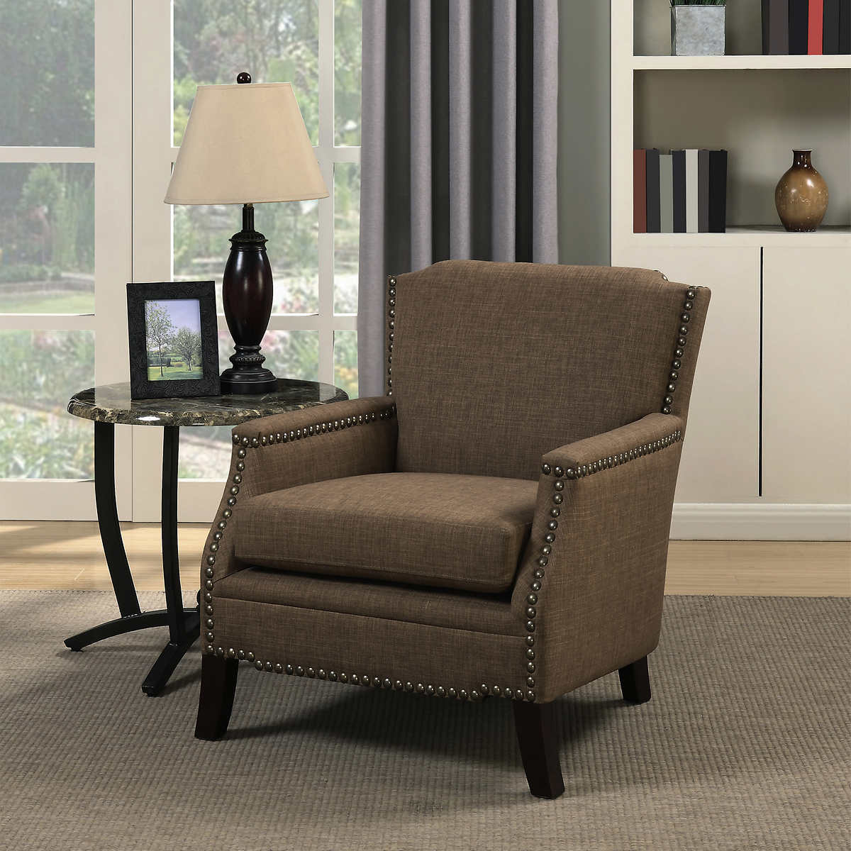 Turquoise and brown accent chair - Bolton Fabric Accent Chair