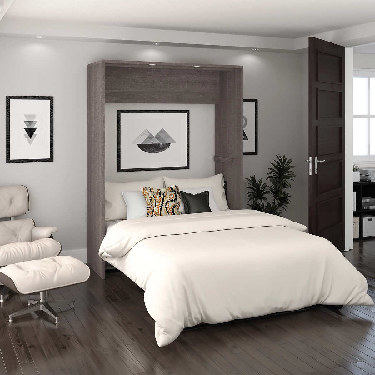 Cielo full wall bed in gray amipublicfo Choice Image