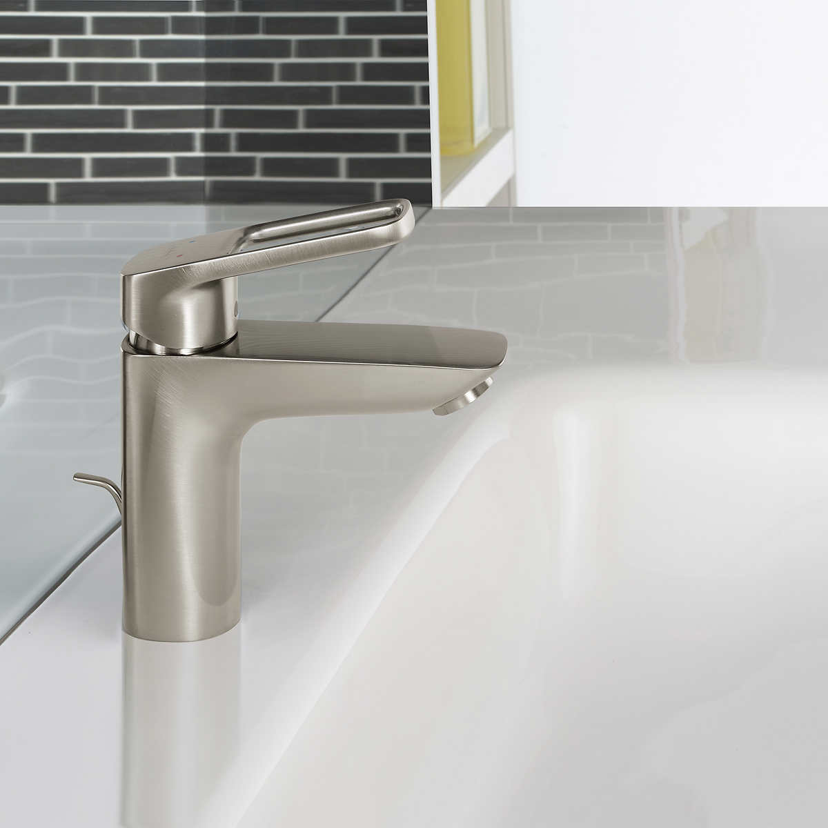 bathroom faucets costco kitchen faucet Hansgrohe Logis Loop Single Hole Bathroom Faucet Brushed Nickel