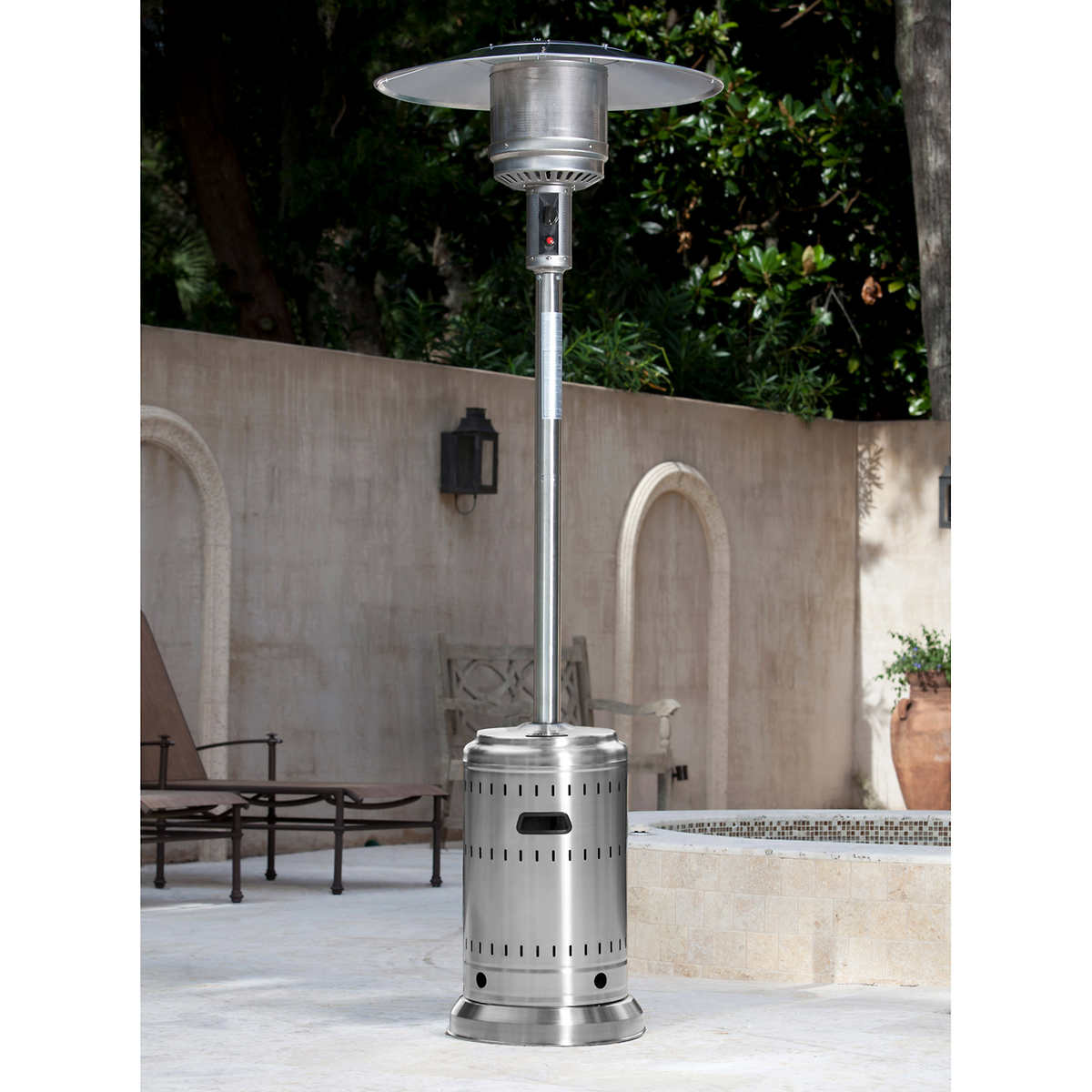 Stainless Steel 46,000 BTU Commercial Patio Heater - Patio Heaters Costco