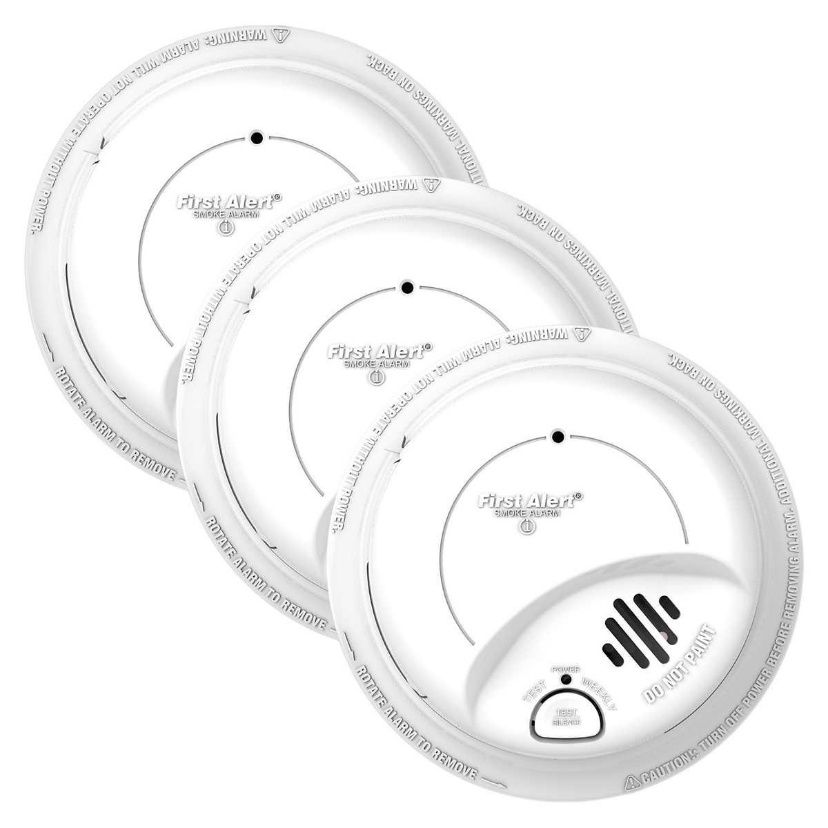 First Alert Hardwired Smoke Alarm, 6-pack