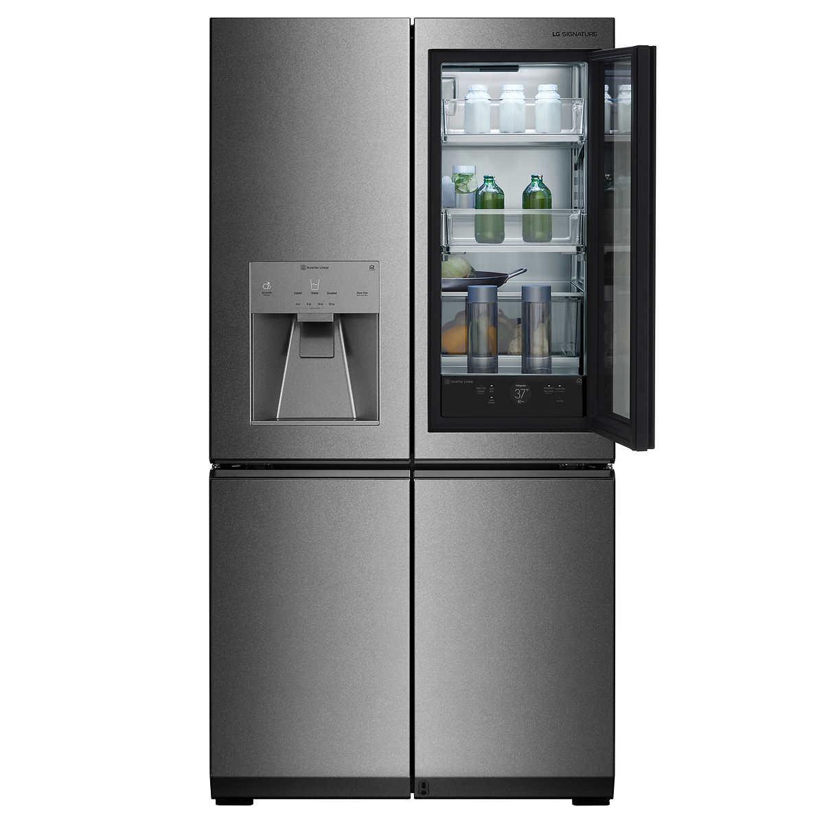 LG SIGNATURE 31CuFt 4-door French Door Refrigerator with InstaView ...