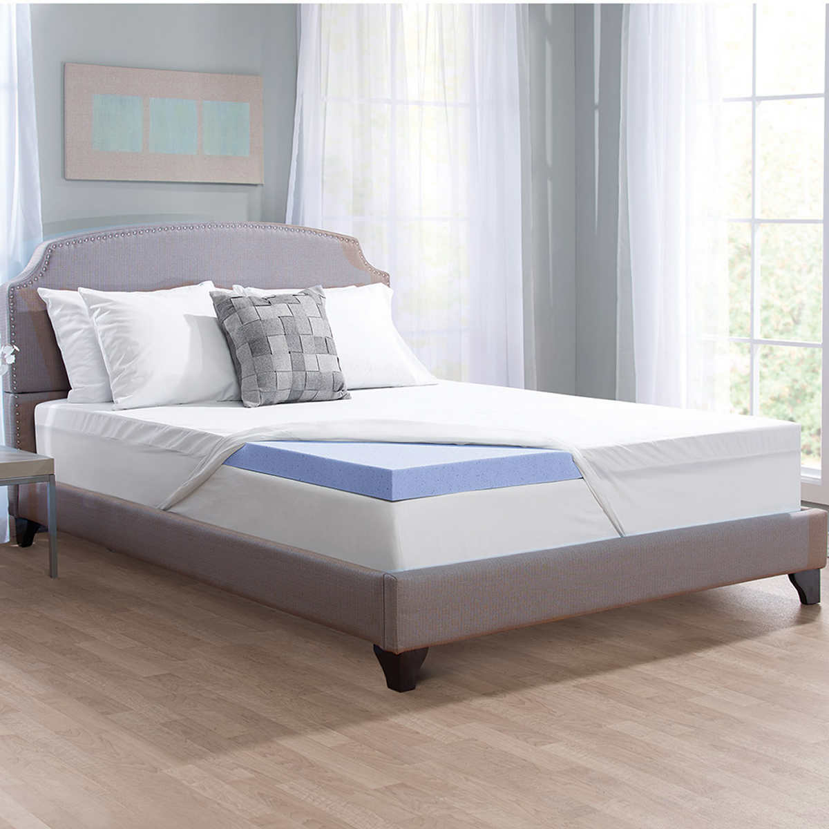 "Novaform Serafina Collection 3"" Gel- Memory Foam Mattress Topper with  TriComfort Technology"