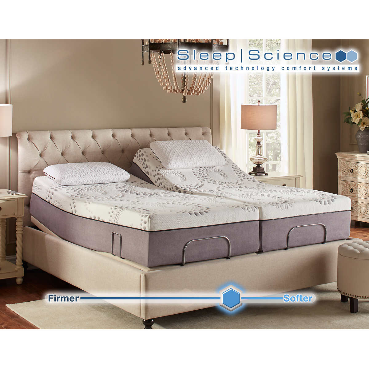 Sleep Science Ara 13 Split King Memory Foam Mattress With Adjule Base