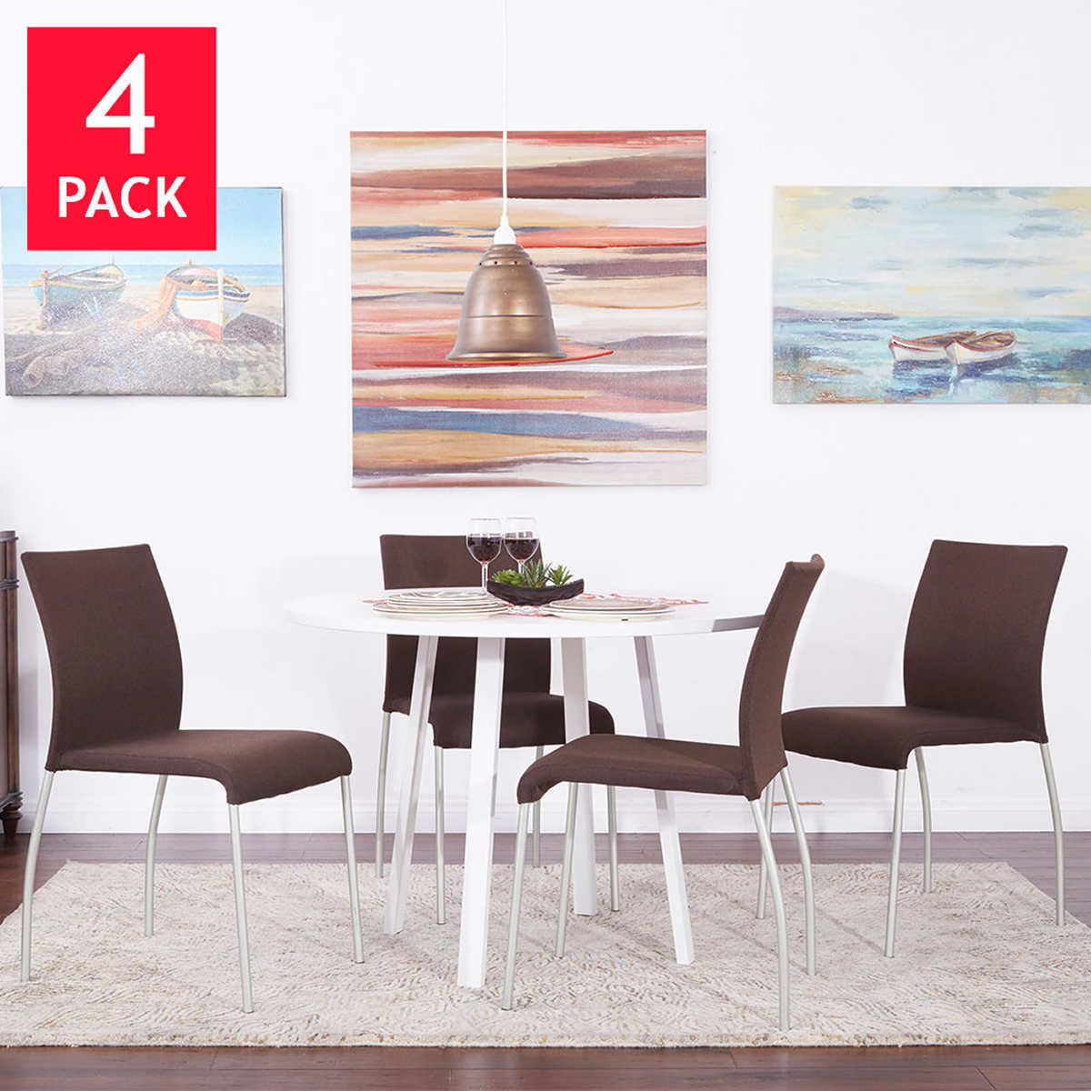 ave six chairs  costco - lucia stacking chair pack brown