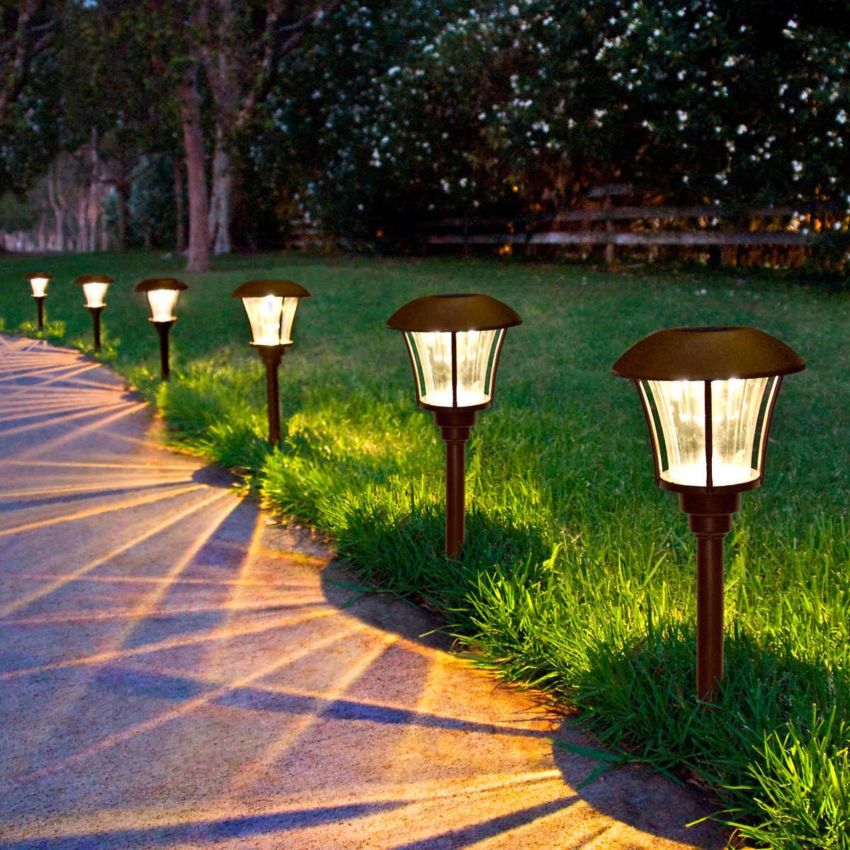 Solar patio lights costco - Smartyard Led Solar Pathway Lights 6 Pack