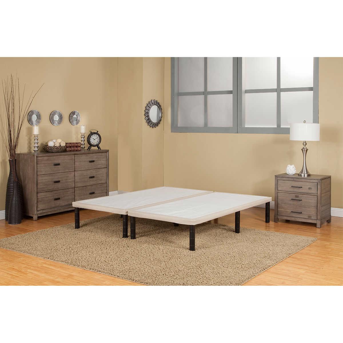 sleep science split folding king mattress foundation - King Bed Frame Costco