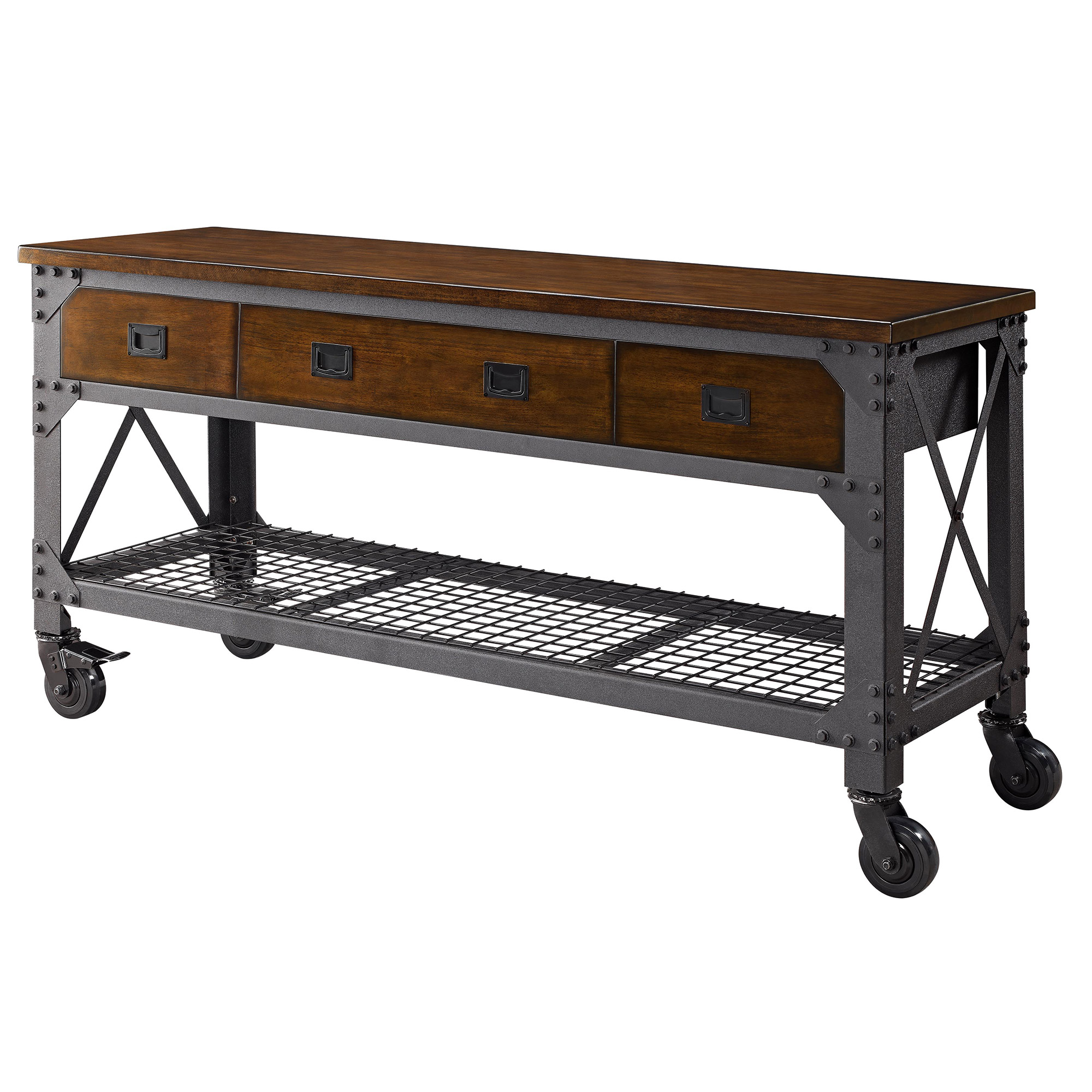 Whalen 72 metal and wood workbench home furniture new ebay for Furniture work table