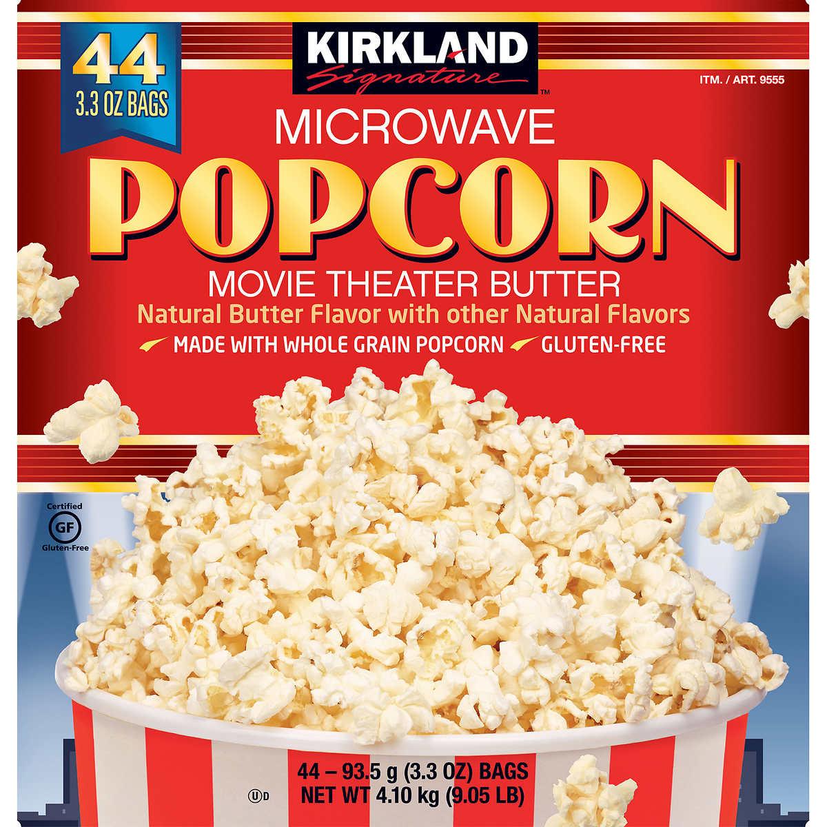 . Kirkland Signature Butter Popcorn Bags 3 3 oz  44 Count
