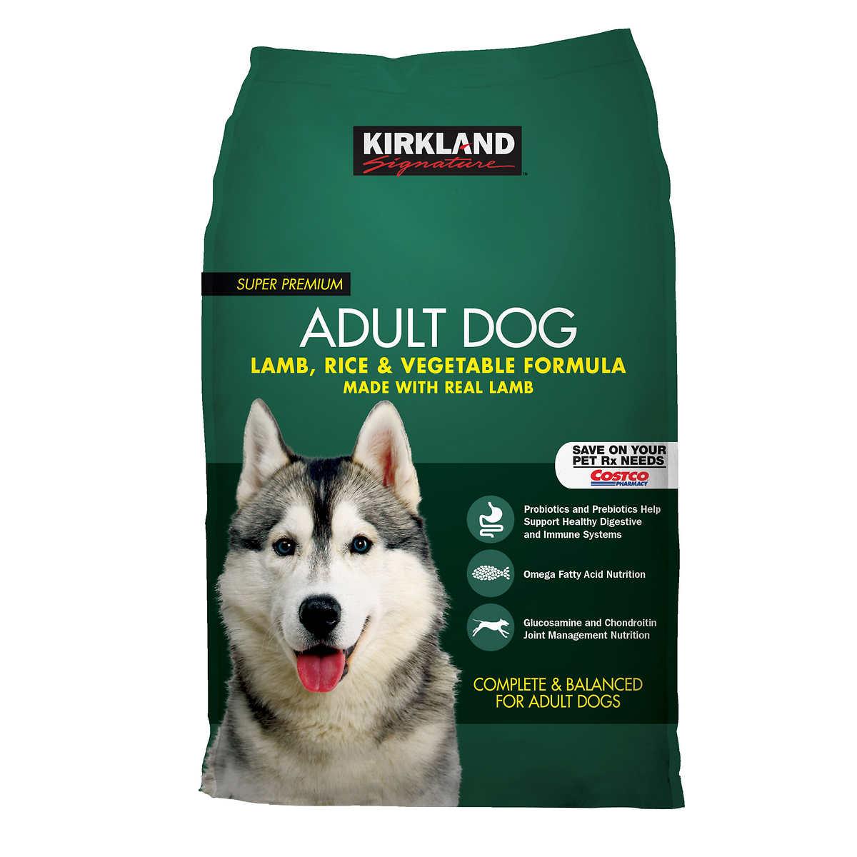 Kirkland Signature Adult Formula Lamb, Rice and Vegetable Dog Food 40 lb