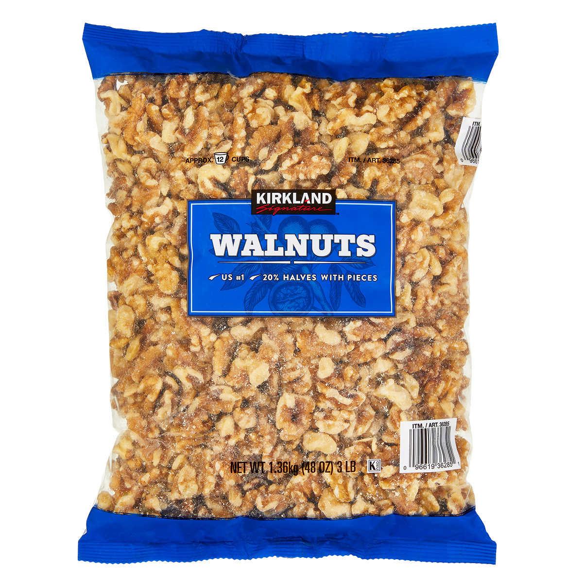 . Kirkland Signature Walnuts  3 lbs