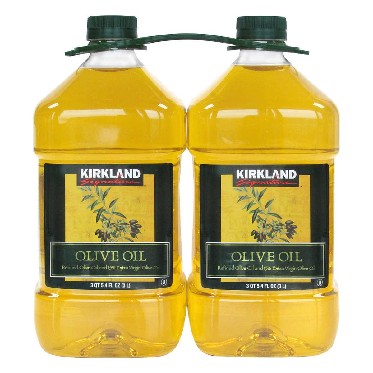 Kirkland Signature Pure Olive Oil 3 Liter, 2-count