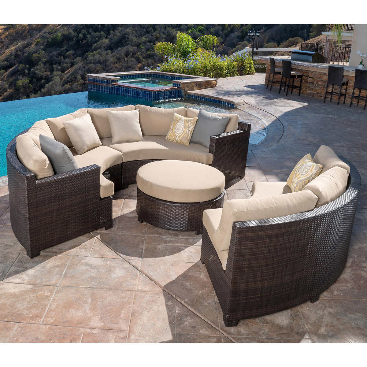 Costco outdoor sofa set hereo sofa for Outdoor sectional sofa costco