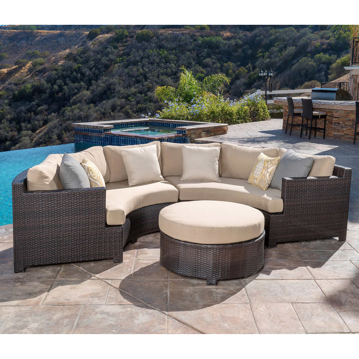 Belmont 3-piece Curved Sectional Seating Set - Seating Sets Costco
