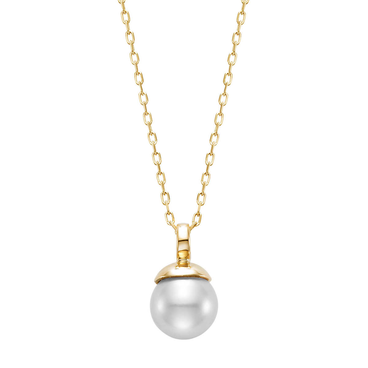 Freshwater 885mm White Pearl 14kt Yellow Gold Necklace