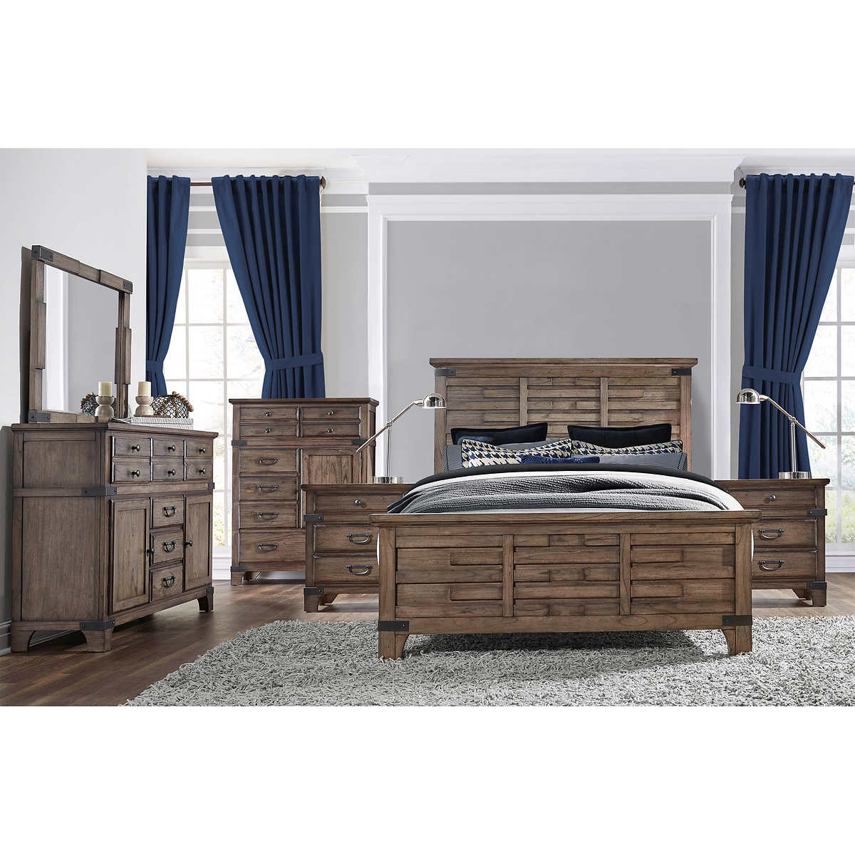 Evelyn 6piece Cal King Bedroom Set