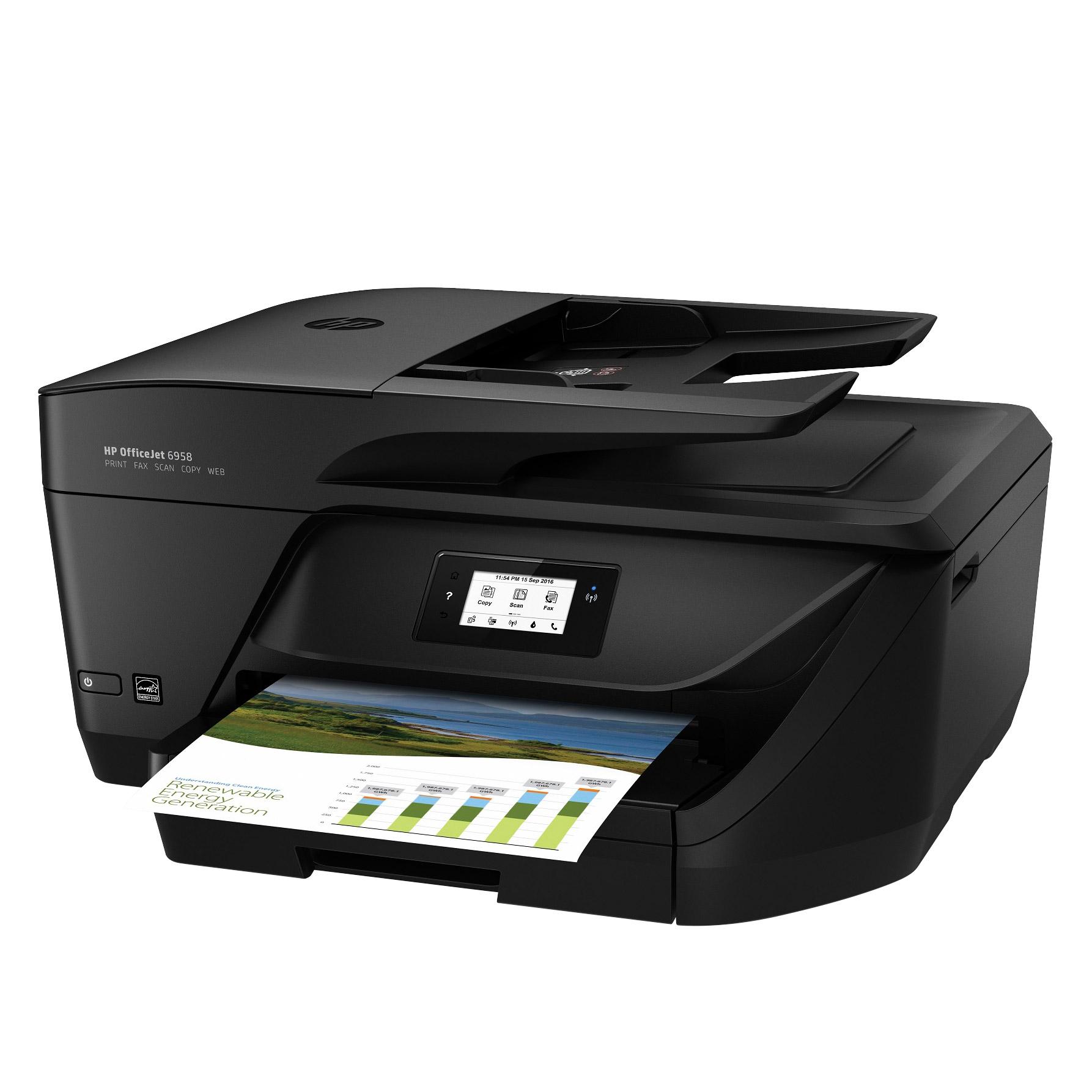 HP Officejet Pro 6958 All In One Color Inkjet Printer