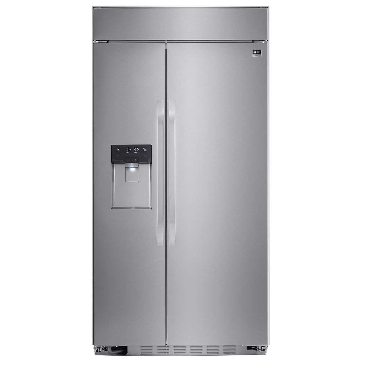 Ge 30 inch side by side white refrigerator - Lg Studio 42 Built In 25 6cuft Side By Side Refrigerator In