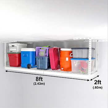 Saferacks 2 Ft X 8 Ft Overhead Garage Storage Rack And