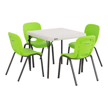 Lifetime Kids Table With 4 Lime Chairs