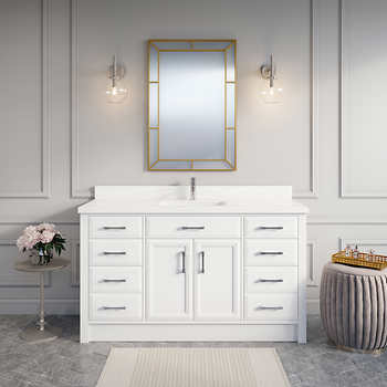 Calais 60 Quot White Vanity By Studio Bathe