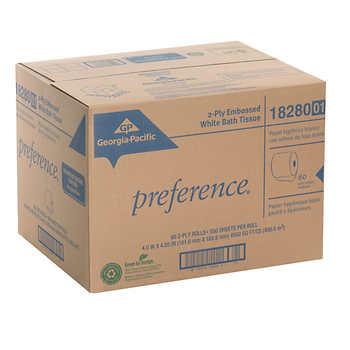 Georgia Pacific Preference Bath Tissue Rolls 2 Ply White 80ct