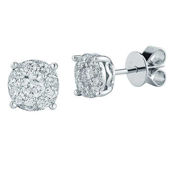 Diamond Cluster Earrings Costco