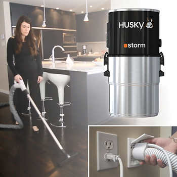 Husky Storm Central Vacuum System With Electric Power Head Kit