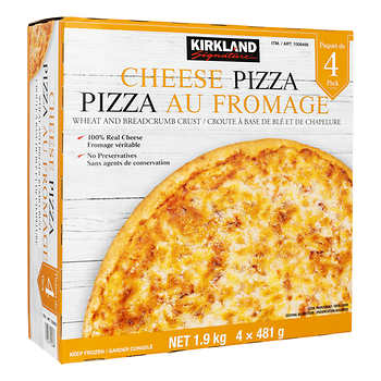 Kirkland Signature 10.5-in Cheese Pizza, Pack of 4