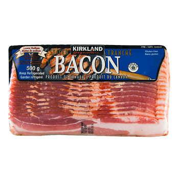Kirkland Signature Low-salt Bacon, 4 × 500 g