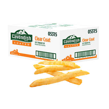 Cavendish Farms Clear Coat 3/8-in Straight Cut Fries, 6 × 2.04 kg