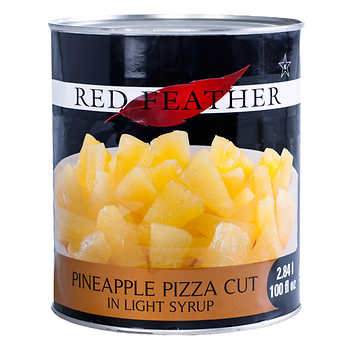 Red Feather Pineapple Pizza Cut in Light Syrup, 6 × 2.84 L