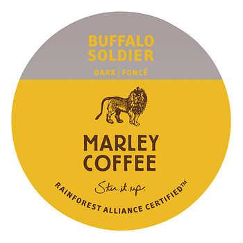 Marley Coffee Buffalo Soldier Dark Roast Capsules, Pack of 96