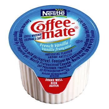 Coffee-mate French Vanilla Coffee Whitener, 180 × 11 mL