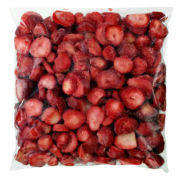 Below Zero Sliced Strawberries, 5 × 1 kg