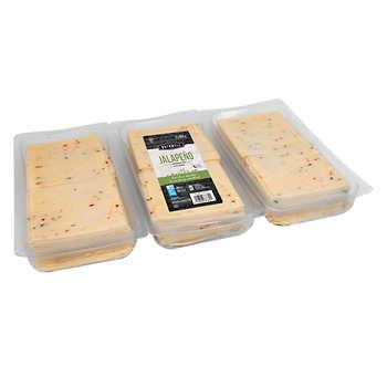 Bothwell Sliced Jalapeño Monterey Jack Cheese, 3 × 650 g