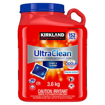 Kirkland Signature Ultra Clean HE Laundry Detergent Pacs, Pack of 152
