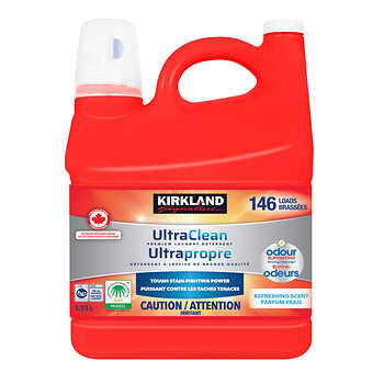 Kirkland Signature Ultra Clean Premium Laundry Detergent, 133 Wash Loads