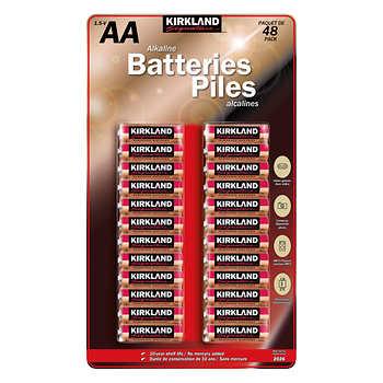 Kirkland Signature AA Battery, Pack of 48