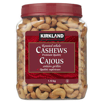 Kirkland Signature Whole Cashews, 1.13 kg (2.49 lb)