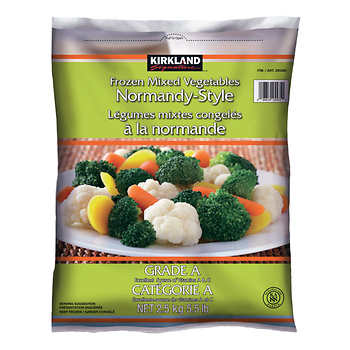 Kirkland Signature Normandy-style Frozen Mixed Vegetables, 2.5 kg