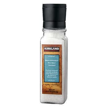 Kirkland Signature Mediterranean Sea Salt With Grinder, 360 g