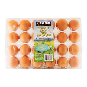Kirkland Signature Large Organic Eggs, Pack of 24