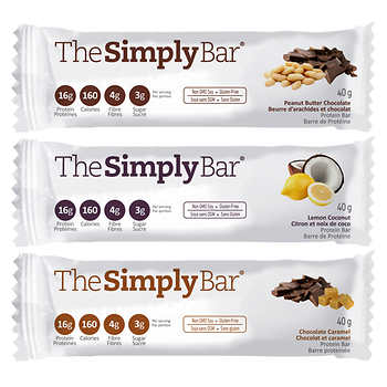 The Simply Bar Variety Pack Protein Bars, 12 × 40 g (1.4 oz)